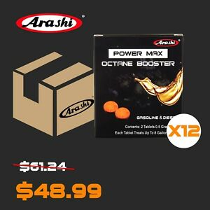 12packs Arashi Power Max Octane Booster Fuel Additives Stabilizer For Gsx1300r