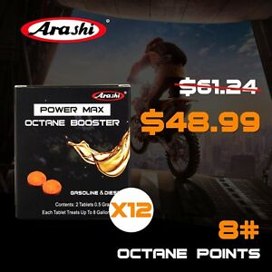 12packs Arashi Power Max Octane Fuel Booster Oil Additives For Yamaha Kawasaki