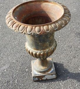 Antique Garden Urn Cast Iron We Ship Circa 1920 50 S