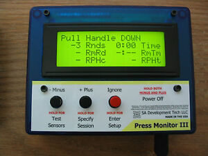 Press Monitor III for Dillon 550 650 Hornady Counter Statistics (Blue Auto)