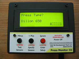 Press Monitor III for Dillon 550 650 Hornady Counter Statistics (Black Manual)