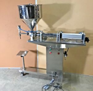Liquid Paste Filling Machine Bottle Filler Machine With Stand New
