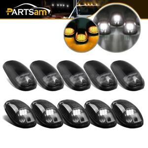 10pcs White amber Led Cab Marker Clearance Running Light For 2003 2018 Dodge Ram