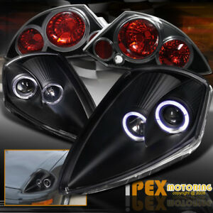 Mitsubishi 2000 2002 Eclipse dual Halos Projector Black Headlight Tail Light