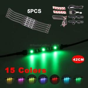 5x42cm Waterproof Car Motorcycle Flexible Led Strip 7 Color All Accessories Inc