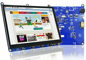 Raspberry Pi 7 Inch Touchscreen Display With Hdmi usb Capacitive Touch Panel