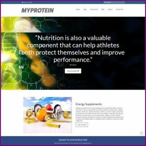Fully Stocked Dropshipping Sports Nutrition Website Business Domain