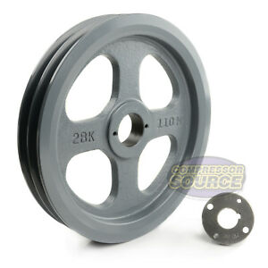 Cast Iron 10 75 2 Groove Dual Belt B Section 5l Pulley With 1 Sheave Bushing