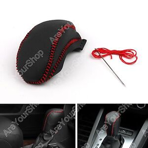 Genuine Leather Gear Shift Knob Cover Automatic For Buick Regal 2009 2013 Black
