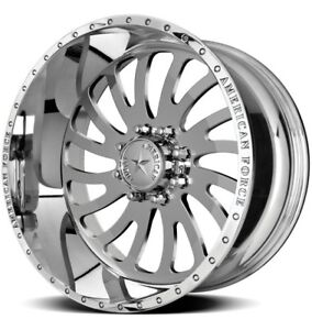 4 New American Force Octane 22x12 Offroad 6x135 Ford F 150