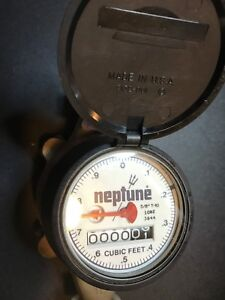 Neptune 5 8 T 10 Nsf61 3026 Water Meter Never Used New other Free Fast Shipping