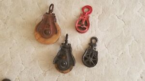 Pulley Wood And Cast Iron