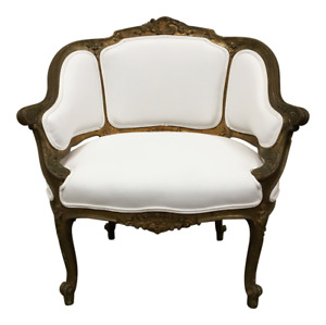 19th C French Antique Carved Arm Chair