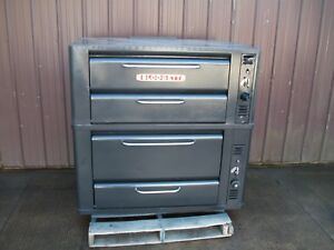Blodgett 911 901 Natural Deck Gas Double Pizza Oven With New Stones Bake
