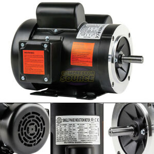 1 5 Hp Electric Motor Single Phase 56c Frame 3450 Rpm Tefc 115 230v C Face