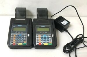 Lot Of 2 Hypercom T7plus Credit Card Machine Terminals T7 Plus
