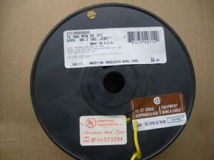 500ft Yellow 16 Awg Stranded Copper Wire Mtw American Cable 2 Available