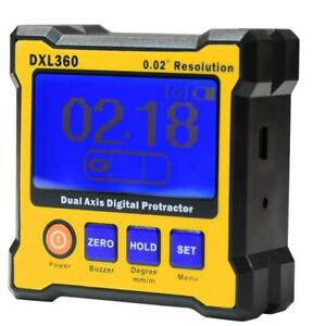 Dxl360 Dual Axis Digital Display Angle Protractor Inclinometer Level Meter Rule