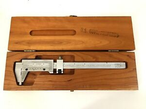 Scherr tumico No 16 0170 Caliper In Wood Case Made In Usa Us Govt Property