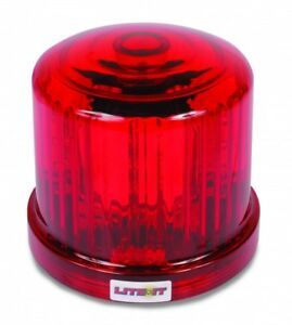 Battery Operated Red Led Beacon Flashing Light Warning Magnetic Mount