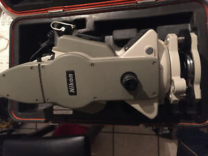 Nikon Total Station Dtm a20lg Surveying Equipment With Carrying Case And Cable