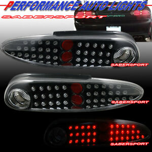 Set Of Pair Black Housing Led Taillights For 1998 2002 Chevrolet Camaro