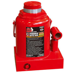 30 Ton Hydraulic Bottle Jack Wide Heavy Duty Base Commercial Industrial Tool