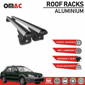 Roof Rack Cross Bars Luggage Carrier Silver For Subaru Impreza Wagon 00 07