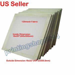 2pcs Aluminum Frame With 120 Mesh Fabric For Silk Screen Printing Press 18 X22