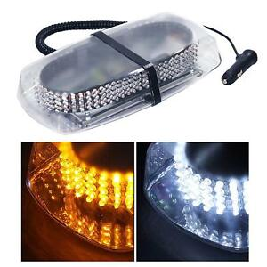 White Amber 240 Led Roof Top Emergency Hazard Warning Flash Strobe Light Bar