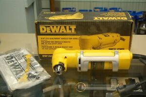 Dewalt Dw160v 3 8 Right Angle Drill Corded Electric 4 0 Amp Unused