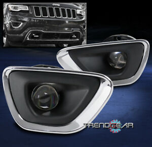 For 2011 2012 2013 Jeep Grand Cherokee Bumper Driving Fog Lights W bezelharness