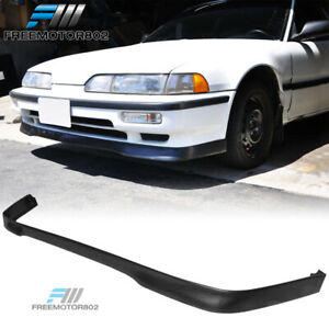 Fit For 90 91 Acura Integra Type R Style Pu Front Bumper Lips Spoiler Black