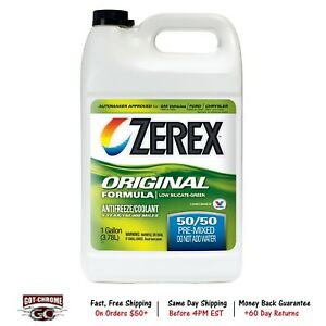 Zxru1 Zerex Antifreeze Engine Coolant 50 50 Mix 1 Gal
