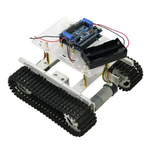 Perfeclan Arduino wifi Control Smart Robot Tank Car Chassis Kit Rubber Track