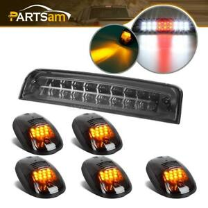 For 09 17 Dodge Ram Led Smoke Lens 3rd Brake Cargo Light W 5pcs Cab Marker Lamps