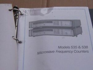 Eip Microwave Microwave Inc Freq Counters 535 538 Change Information Manual