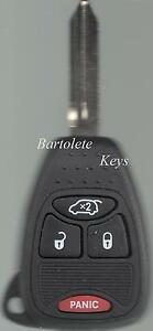 Replacement Remote Car Key Fob Fits 2007 2008 2009 Chrysler Aspen