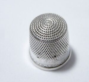 Antique Stern Goldsmith Sterling Silver Sz 12 Thimble Holes
