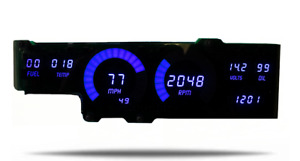 1978 1988 Oldsmobile Cutlass Digital Dash Panel Blue Led Gauges Made In The Usa