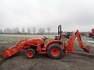 2015 Kubota L3301 Tractor loader backhoe 4wd Shuttle Shift 489 Hours