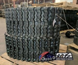 Two Rubber Tracks For Cat 249d 400x86x49 Zig Zag Tread Free Shipping 16