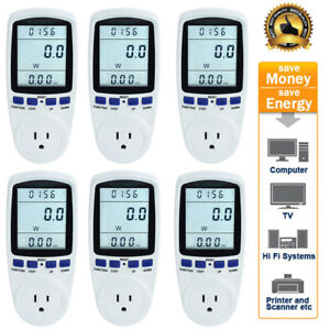 1 10 Pack Lcd Power Energy Watt Amps Volt Kwh Meter Electricity Monitor Analyzer