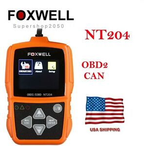 Usa Ship Foxwell Nt204 Obd2 Can Code Reader Diagnostic Tool Multi languages