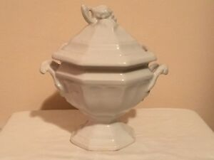 Vintage Red Cliff Ironstone Soup Tureen With Lid