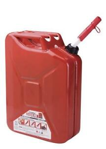 5 Gallon Metal Jerry Canister Gasoline Fuel Spill Proof Safety Storage Container