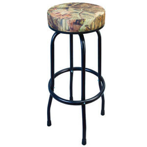 Heavy Duty Classic Camo Swivel Cushion Padded Seat Chair Home Garage Shop Stool