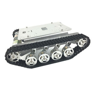 Perfeclan Obstacle Avoidance Smart Robot Car Tank Chassis Kit Alloy Platform