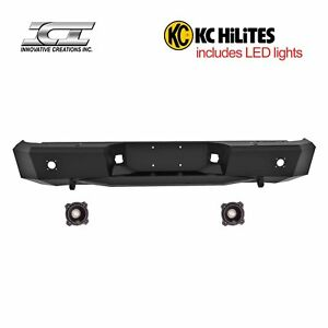 Rbm43tyn Kc Magnum Off Road Rear Bumpers With Kc Hilites Led Reverse Lights Ici