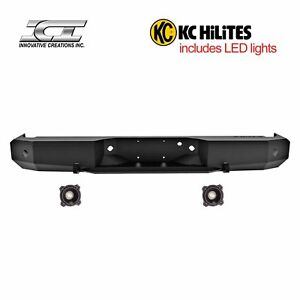 Rbm49fdn Kc Magnum Off Road Rear Bumpers With Kc Hilites Led Reverse Lights Ici